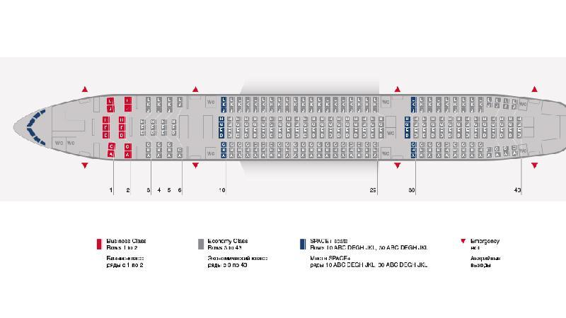 Схема салона Боинг 777 200