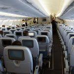 Вид экономичного салона самолета Аэробус А330-300
