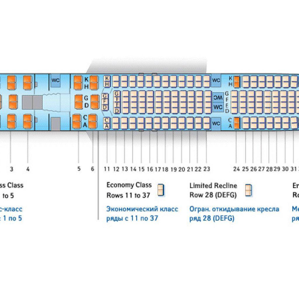 схема аэробуса 330-300