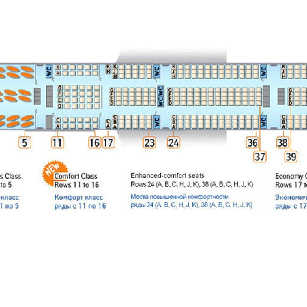 Boeing 777 300er схема мест 26