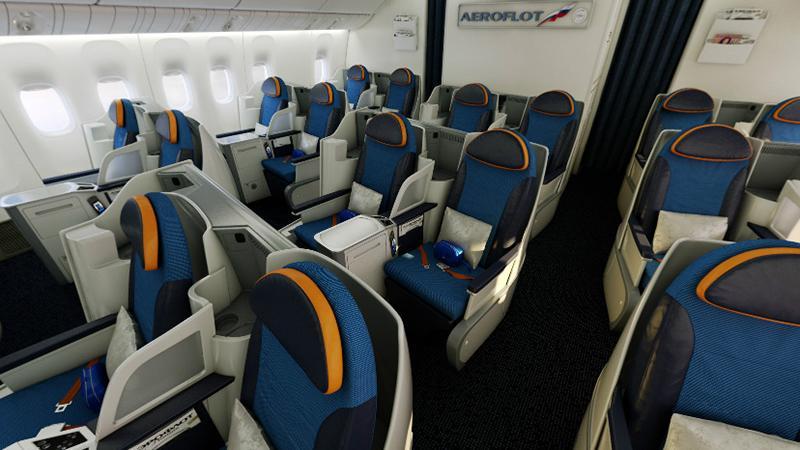 Схема Boeing 777 300: бизнес-класс