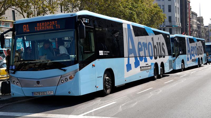 """Как добраться из ажропорта Барселоны до центра Барселоны: """"Аэробус"""""""