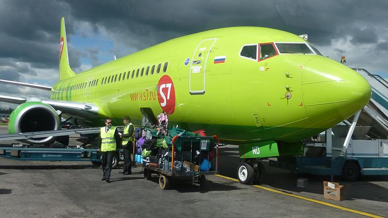 """Багаж в самолете """"S7"""": правила провоза"""