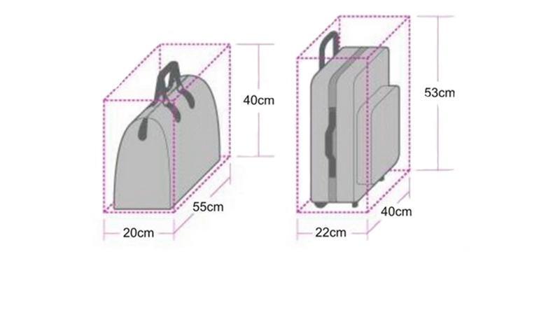"""Габариты, размер и вес ручной клади в самолете """"S7"""""""