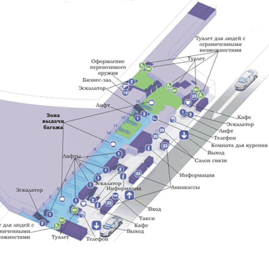 схема движения автомобилей в аэропорту внуково