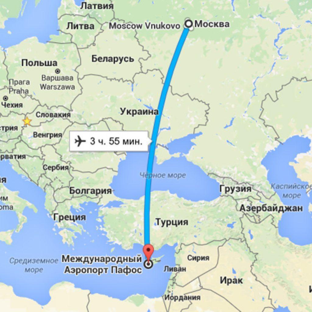 Схема полета самолетов в кипр