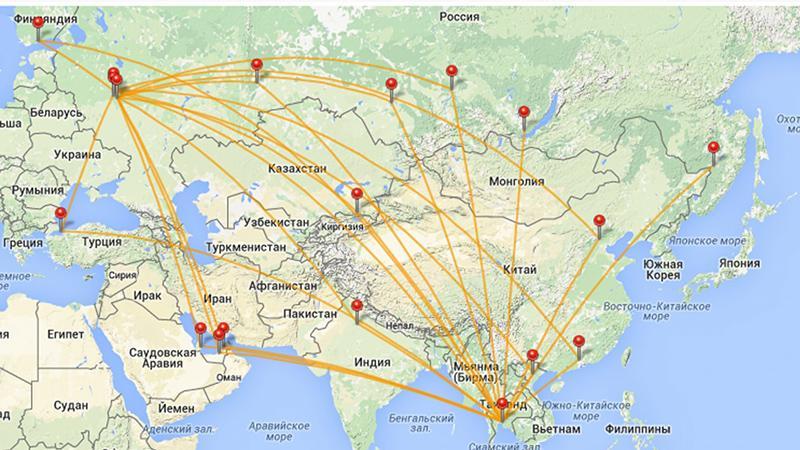 Перелет до Тайланда: время в пути