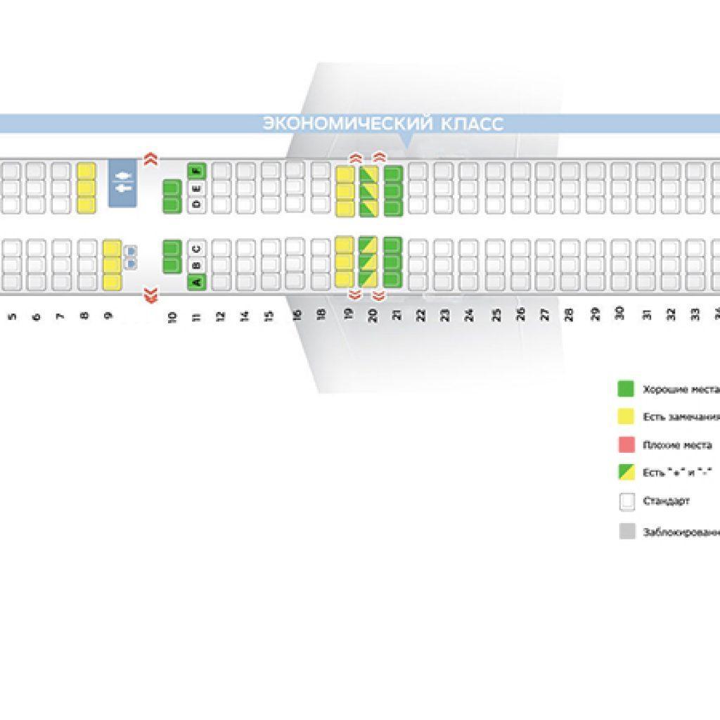 Боинг 757 схема салона