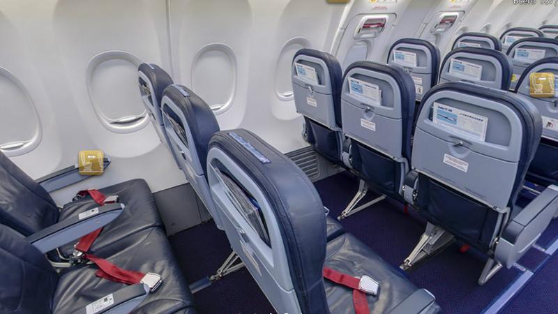 Расположение лучших мест в самолете Боинг 757 200