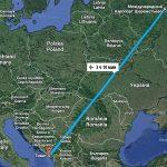 Перелет Москва-Черногория: время в пути