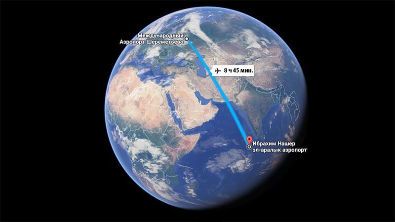 Москва-Мальдивы: время в пути прямым рейсом