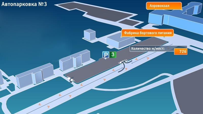 Платная паркова аэропорта Домодедово