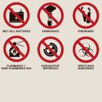 Список запрещенных вещей для перевозки в самолете