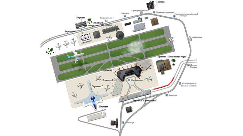 Шереметьево: терминалы аэропорта