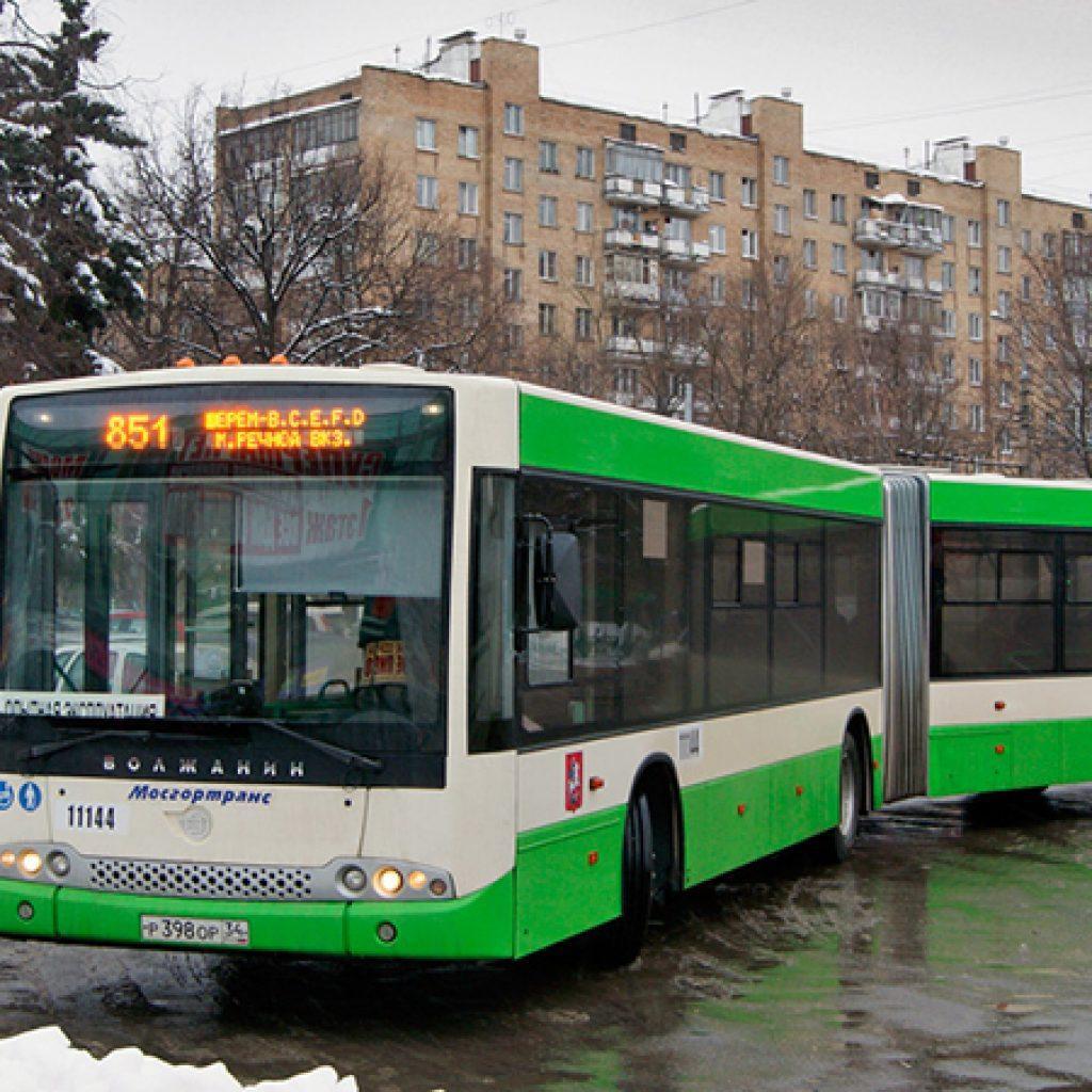 автобус 851 схема маршрута москва