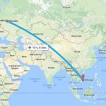 Путь из Москвы до Нячанга: сколько времени лететь