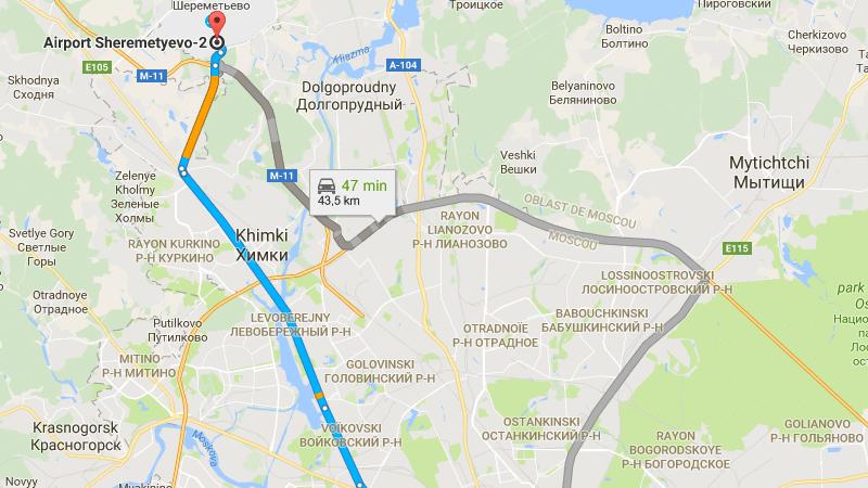 карта терминалов Шереметьево
