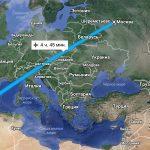Время в пути Москва-Майорка