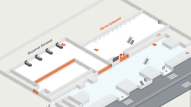 схема аэропорта Шереметьево терминал C
