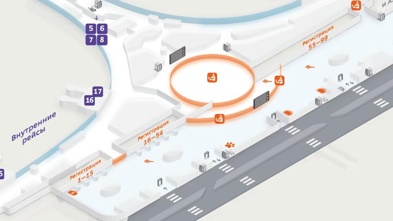 парковка в терминал D аэропорта Шереметьево