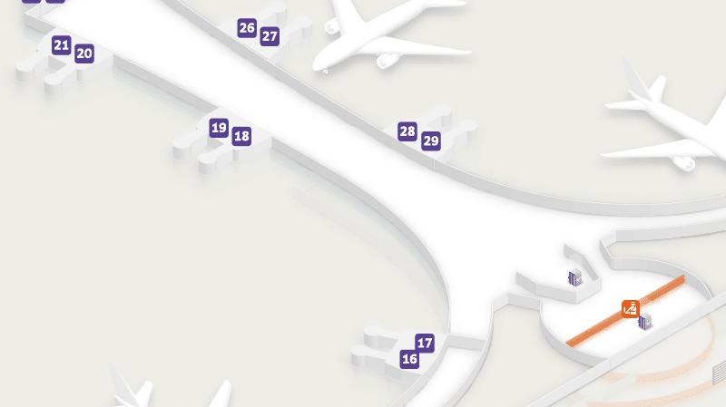 Шереметьево терминал Д схема терминала