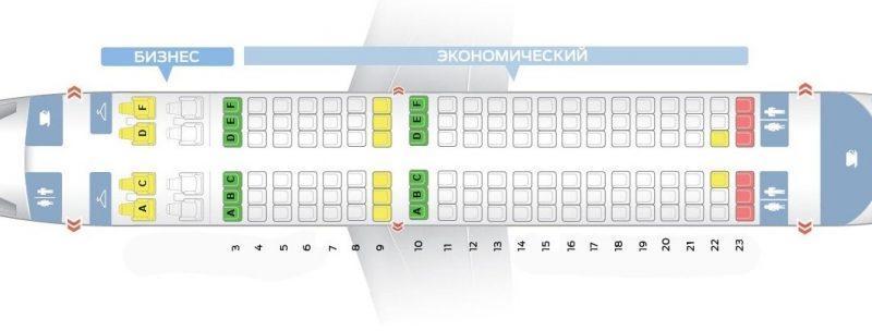 лучшие места схема салона аэробус а319 s7