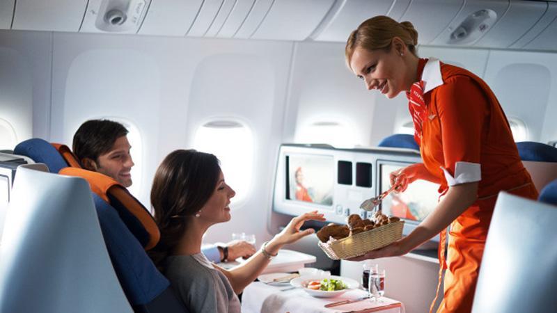 "Нюансы питания на борту авиакомпании ""Аэрофлот"""