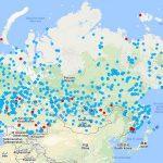 Аэропорты России на карте России
