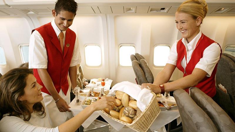 Питание на борту самолета: особенности