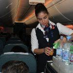 Еда и напитки в самолете эконом класса