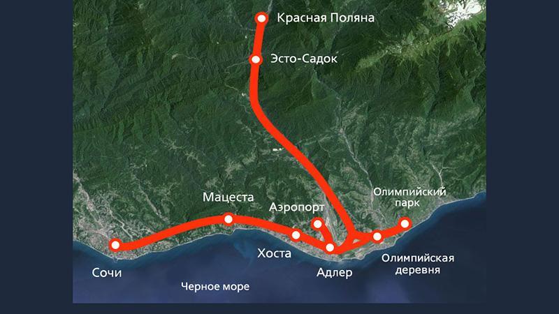 """Аэропорт """"Сочи"""" на карте Сочи"""