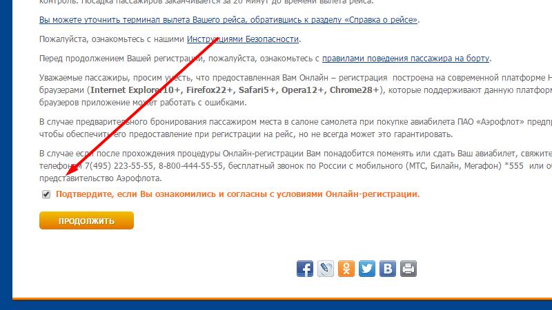 регистрация на рейс в Шереметьево через интернет