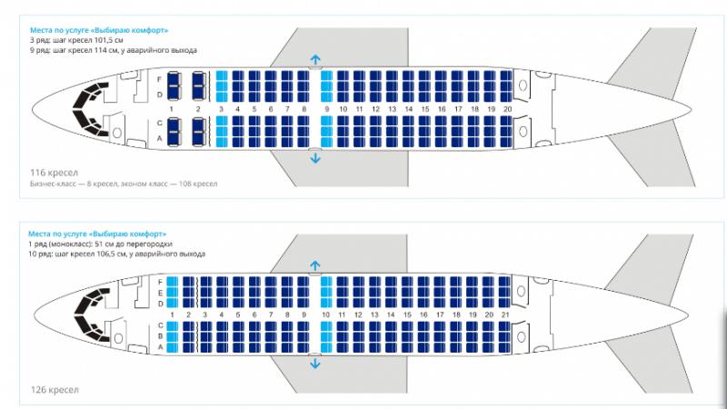 boeing 737 500 схема салона