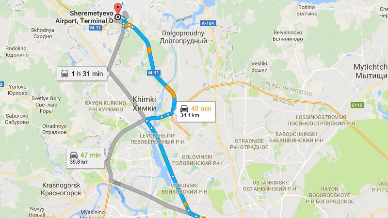 аэропорт Шереметьево терминал Д схема проезда к парковке