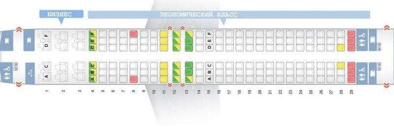 boeing 737 800 s7 схема салона лучшие места
