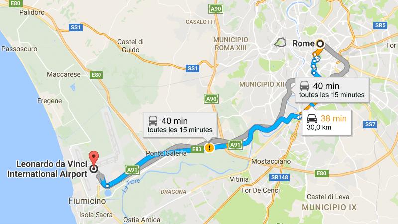 карта аэропорта Фьюмичино