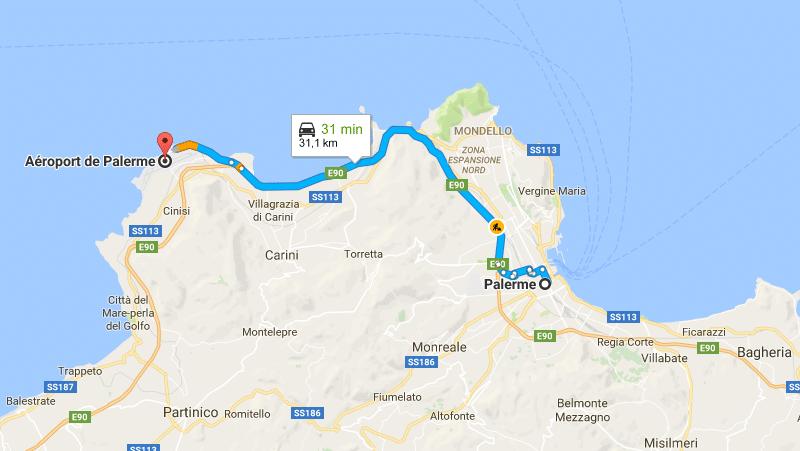 название аэропортов на Сицилии