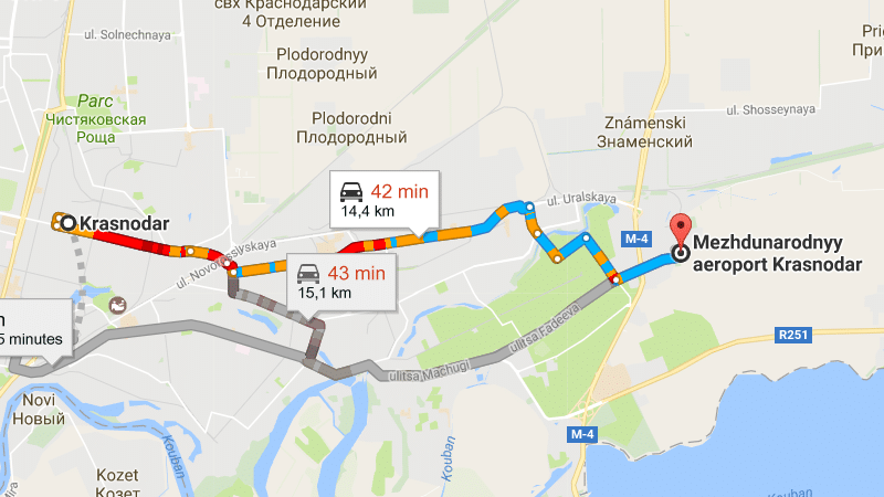 схема аэропорта Краснодар