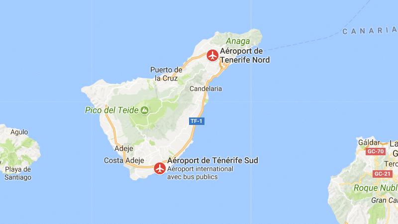 аэропорты на карте Тенерифе
