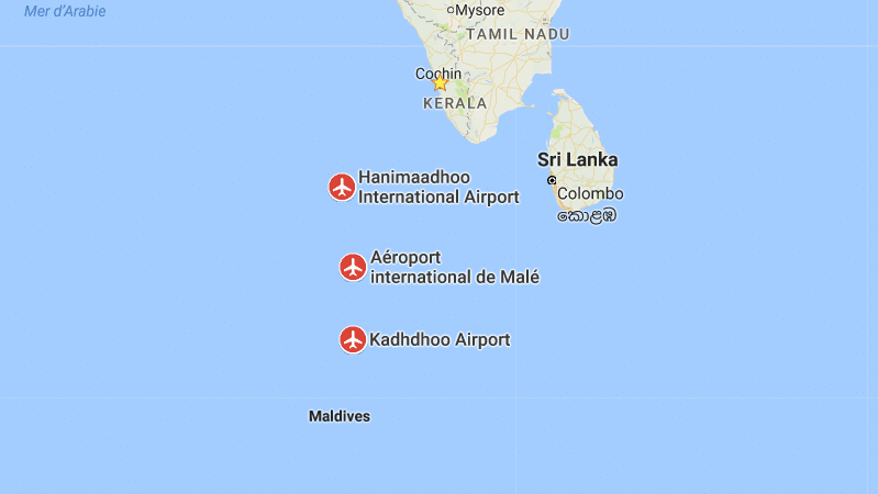 название аэропорта Мальдивы