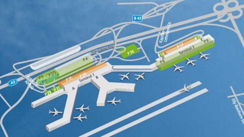 аэропорт Франкфурт Хан на карте