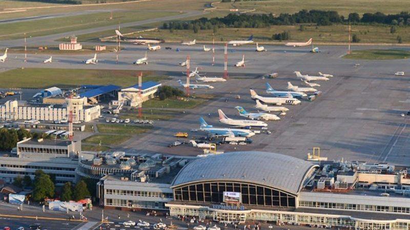 аэропорты Украины на карте