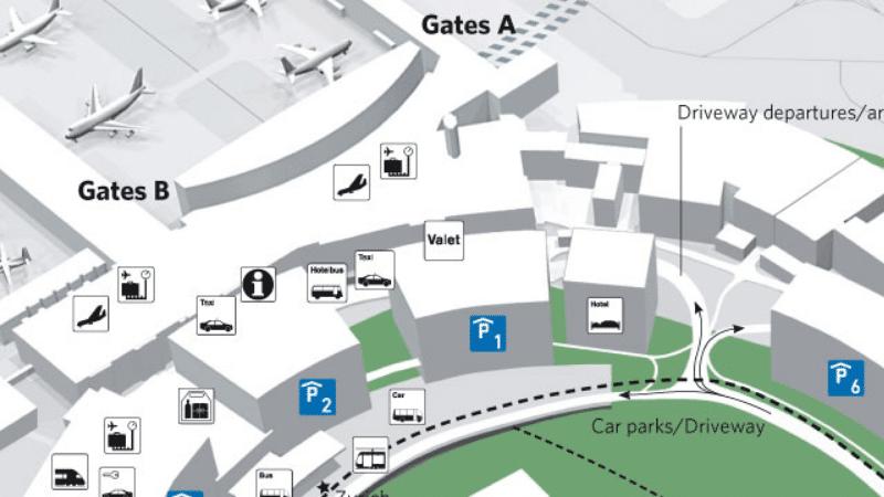 как из аэропорта Цюриха добраться до центра города