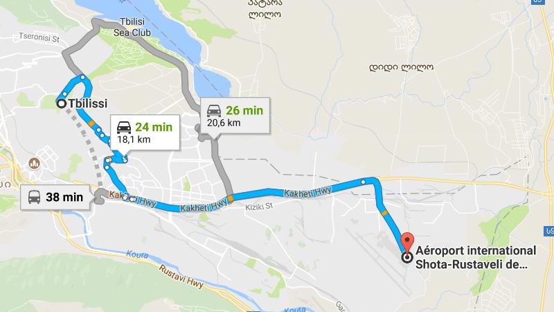 как добраться в центр города из аэропорта Тбилиси