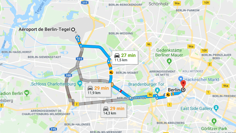 Как из аэропорта Берлин-Тегель добраться в центр города