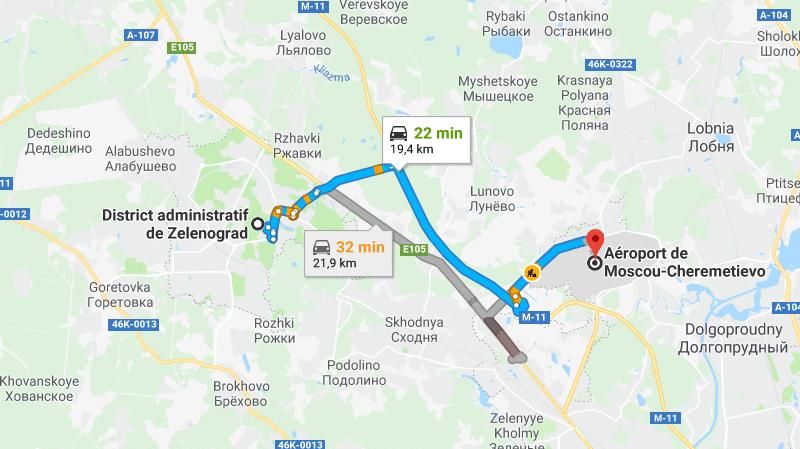 """Как доехать до """"Шереметьево"""" из Зеленограда"""