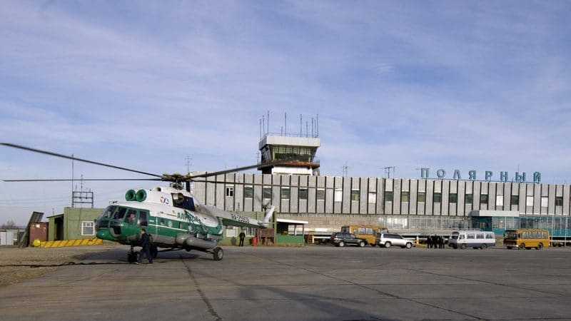 Региональный аэропорт Полярный в городе Удачный (Якутия)