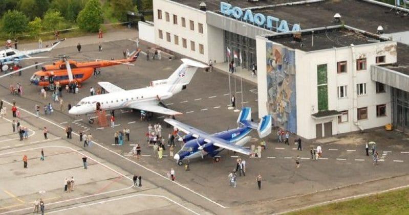 """Российский аэропорт """"Вологда"""", расположенный в одноименном городе"""