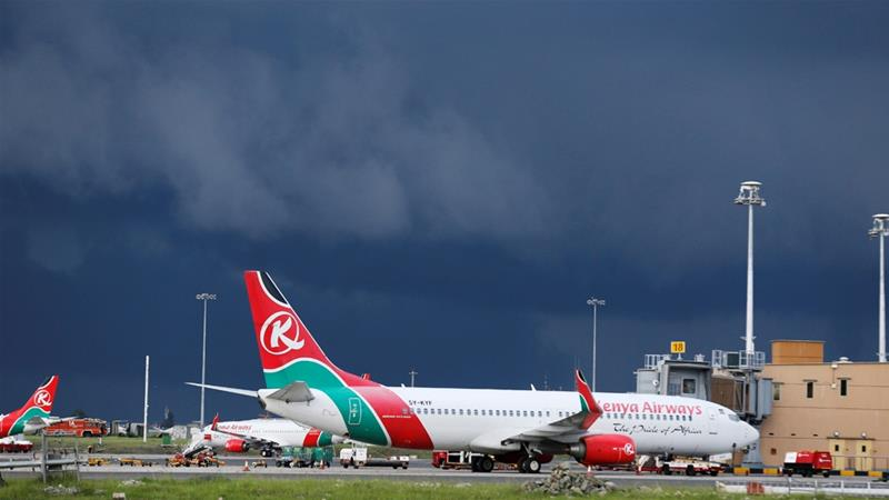 """Национальная авиакомпания Кении """"Kenya Airways"""""""