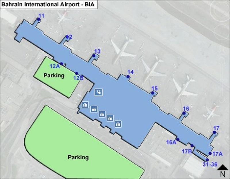 Международный аэропорт Бахрейн на острове Мухаррак